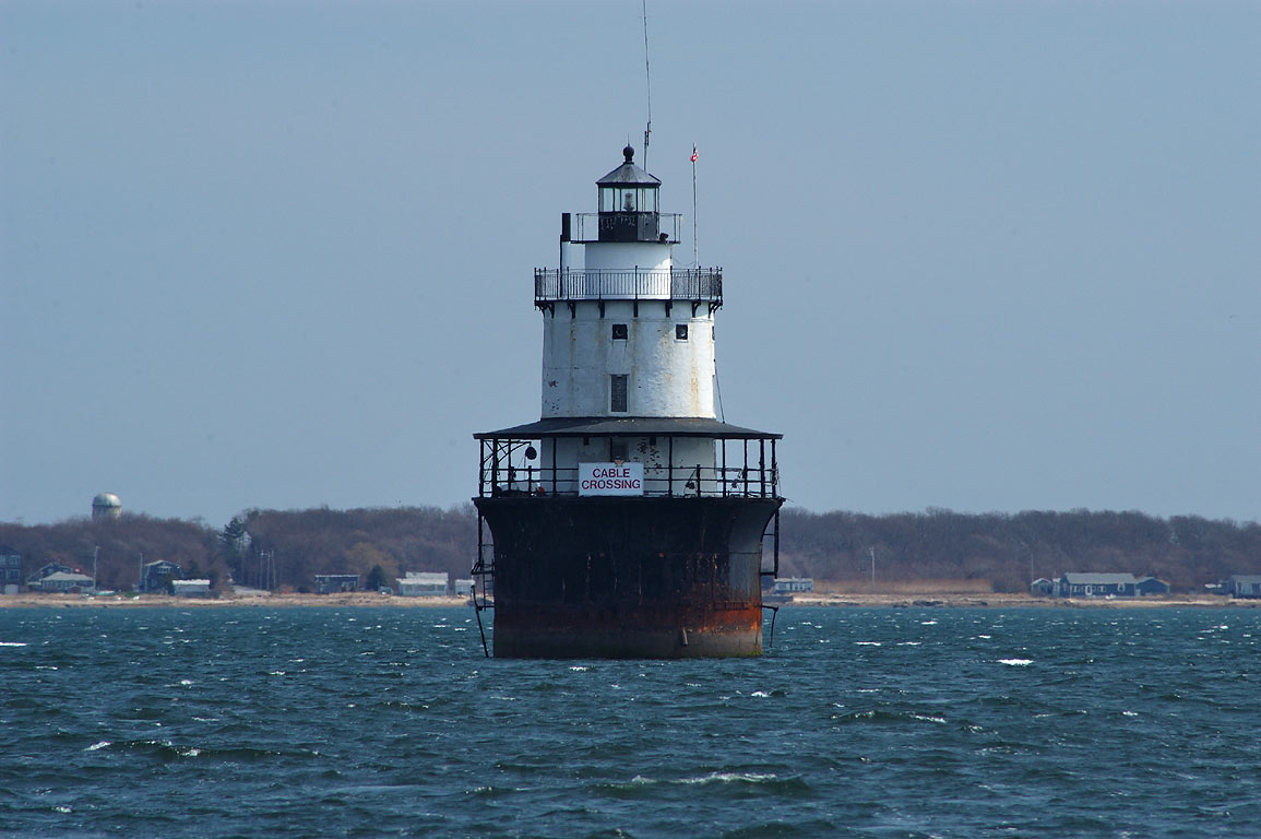 Butler Flats Lighthouse in Buzzards Bay, view...Blvd.. New Bedford, Massachusetts