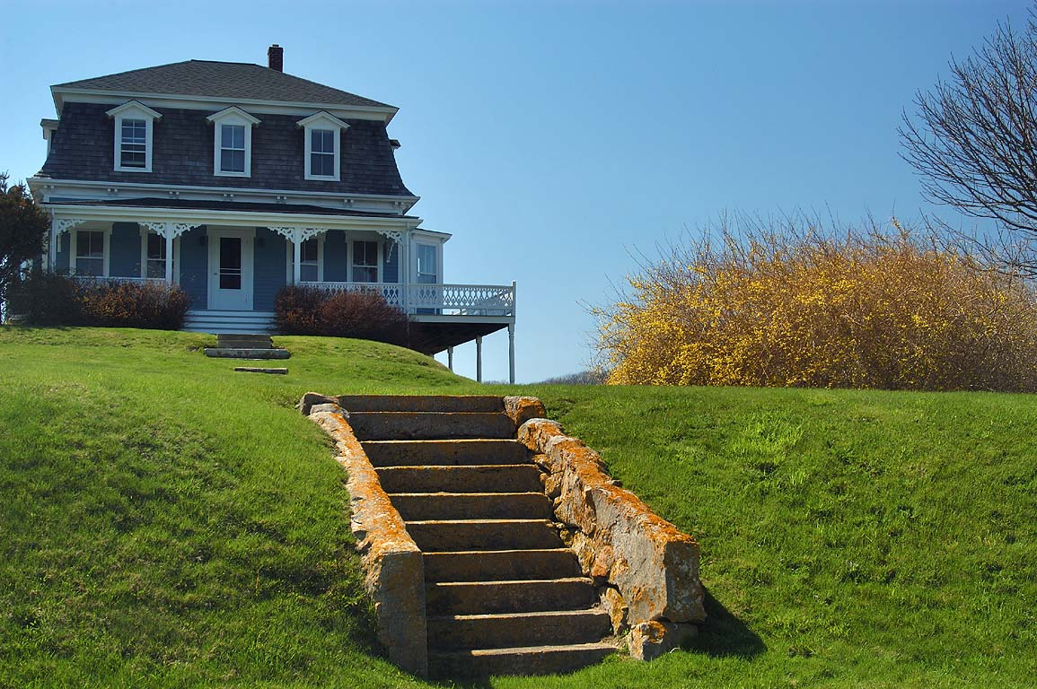 A typical house on Center Rd. in Block Island. New Shoreham, Rhode Island