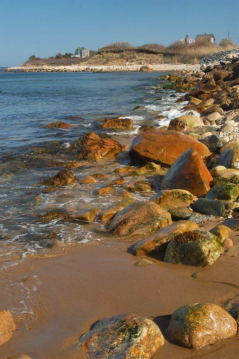 Pebbly Beach near Spring St. in Block Island. New Shoreham, Rhode Island