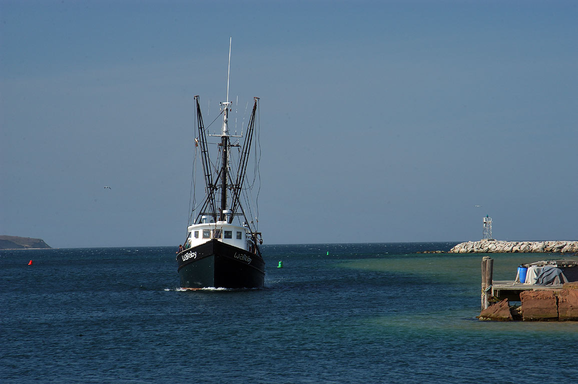 View from Fish Pier in Block Island. New Shoreham, Rhode Island