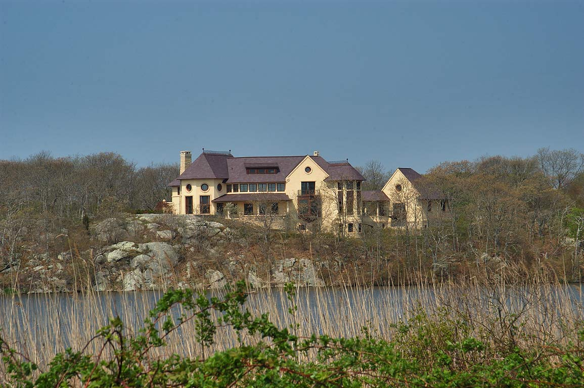 A mansion on west side of Almy Pond in Newport. Rhode Island