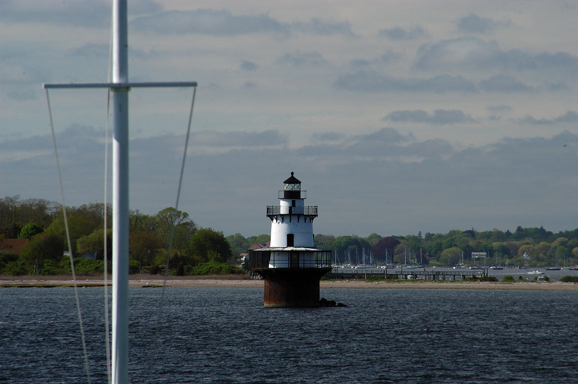 Hog Island Shoal Light and East passage of...Baker Rd.. Portsmouth, Rhode Island