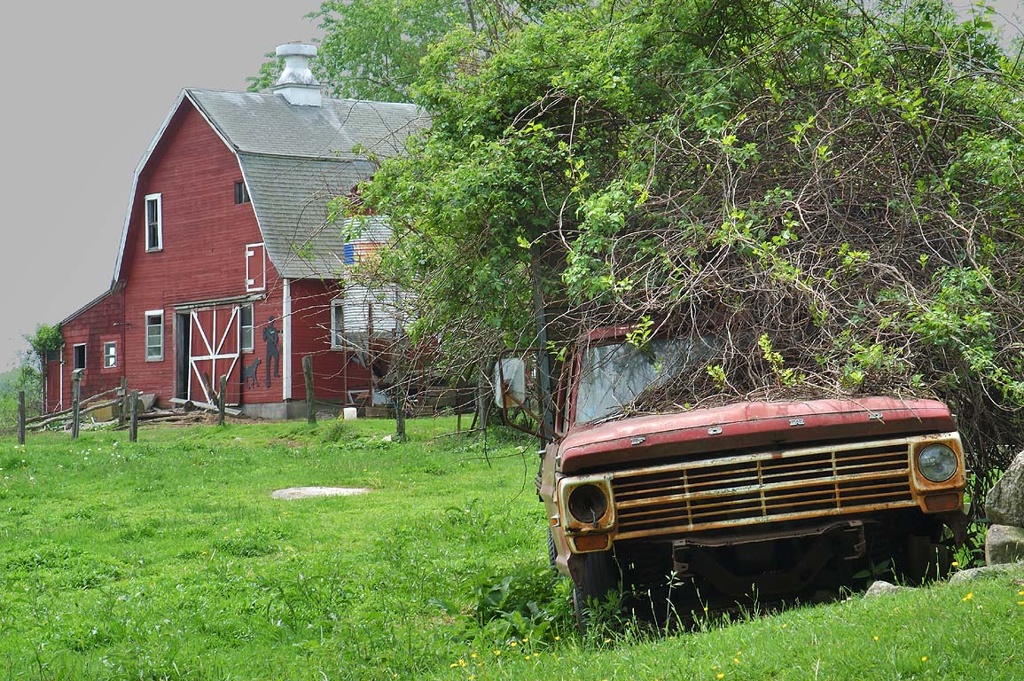 A farm on Ten Rod Rd.. Exeter, Rhode Island