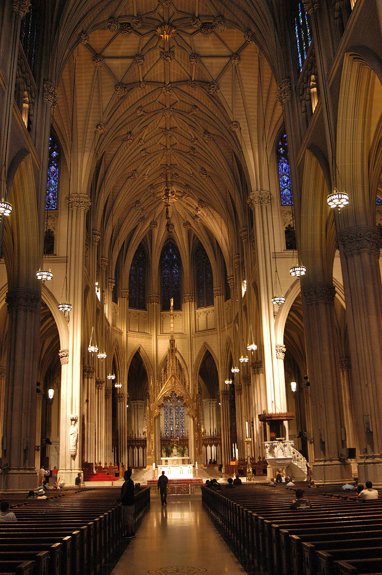 Interior of St.Patrick's Cathedral. New York
