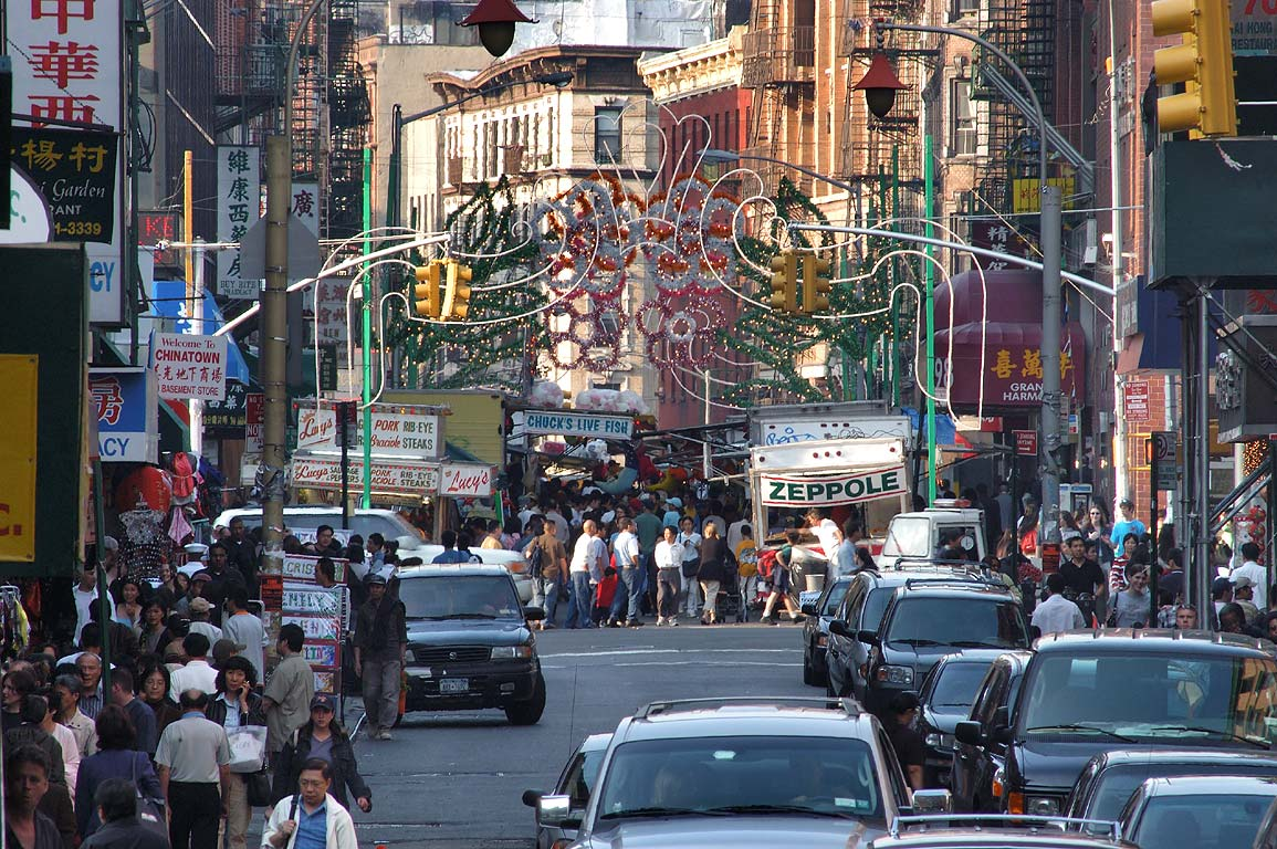 View of Chinatown from Canal St.. New York