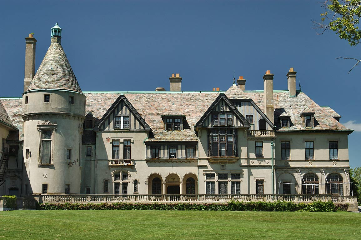 Carey Mansion of Salve Regina University, south side. Newport, Rhode Island
