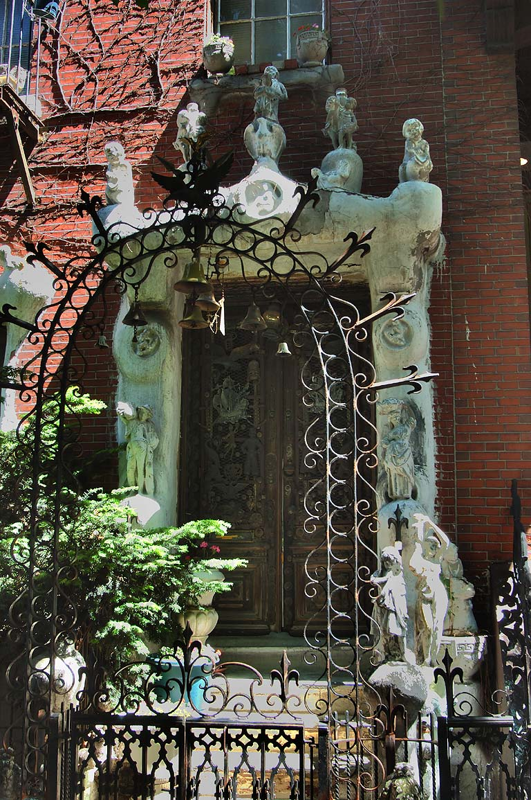 A doorway in the area of Milford St. in South End of Boston