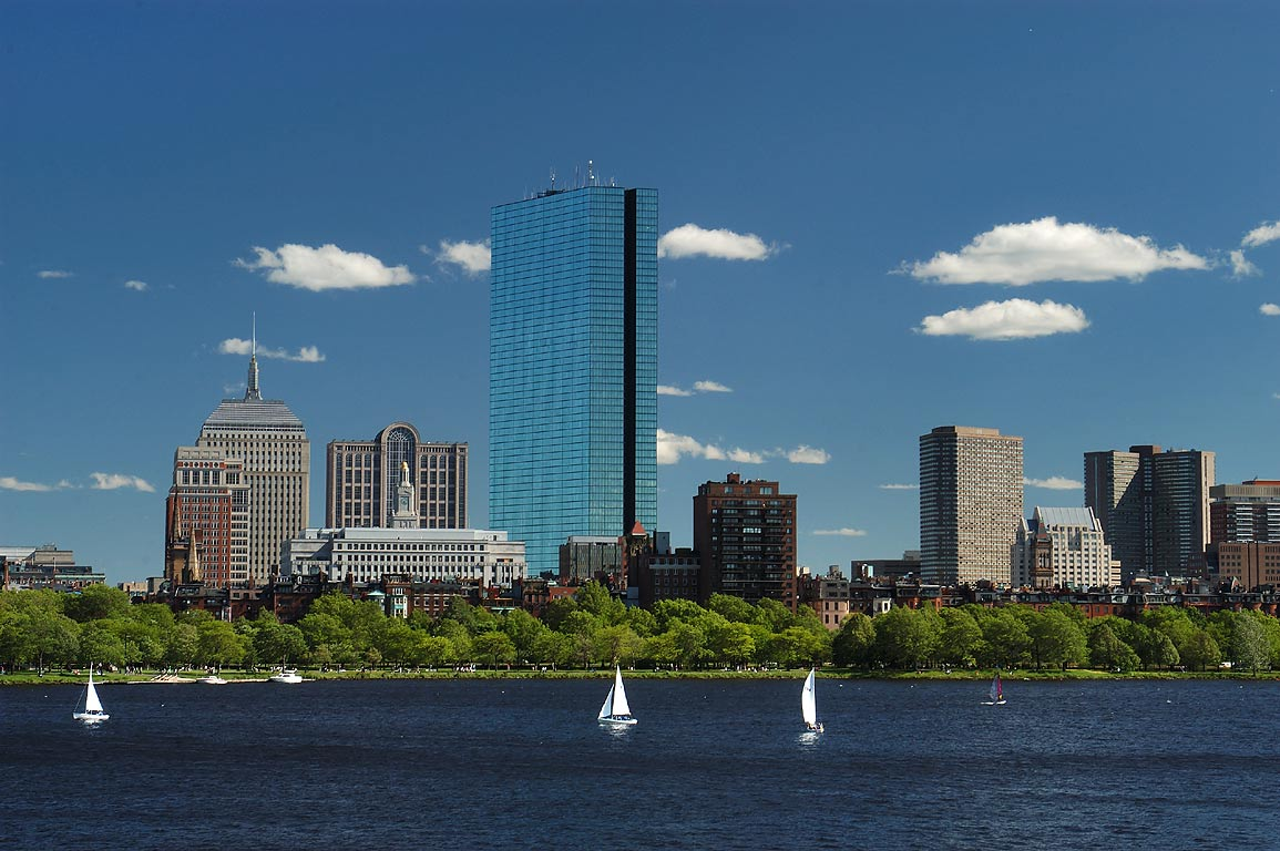 Charles River from Longfellow Bridge. Boston, Massachusetts