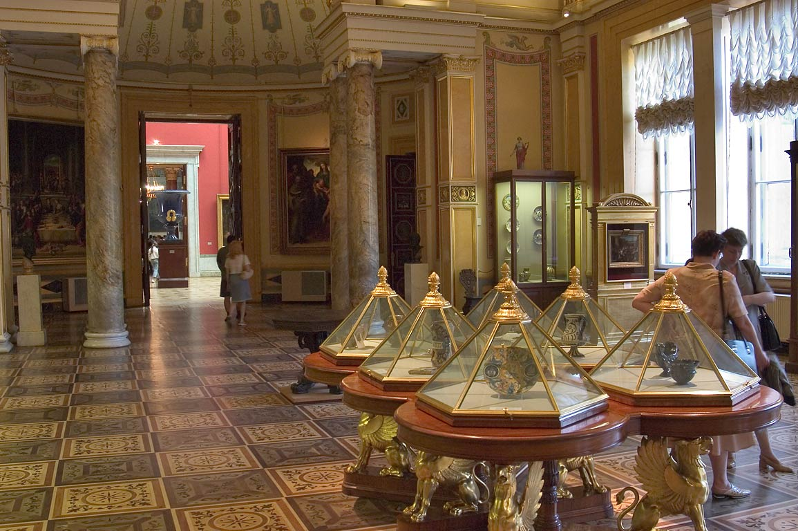 The Majolica Room in Hermitage museum. St.Petersburg, Russia