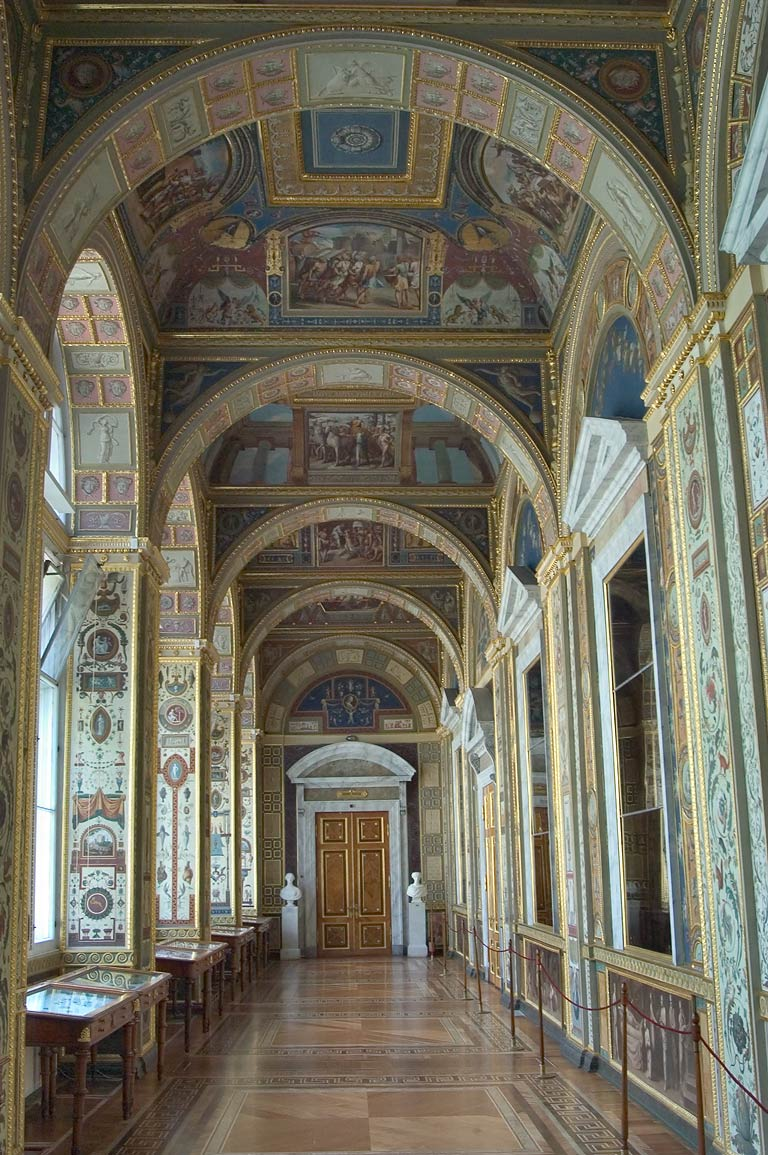 The Raphael Loggias in Hermitage museum. St.Petersburg, Russia