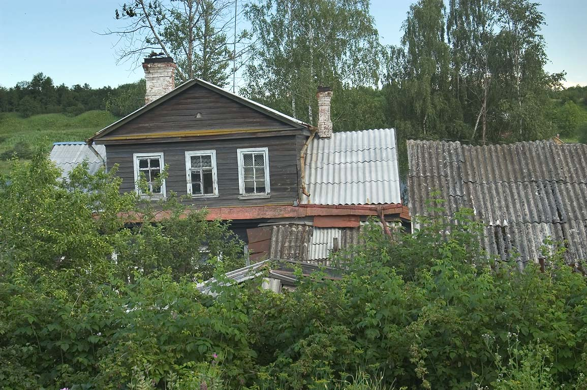 A summer house (dacha) on a bank of Volkhov River...Ladoga). Leningrad Region, Russia