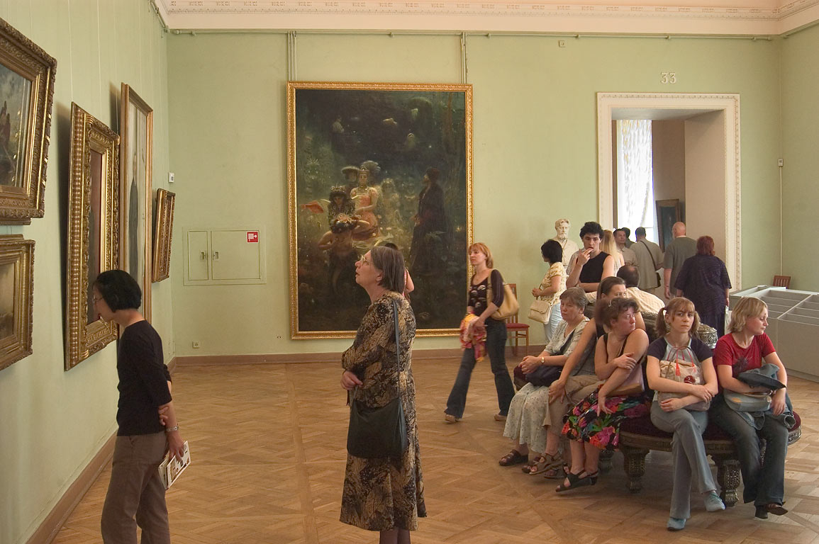 I. Repin paintings in Russian Museum. St.Petersburg, Russia