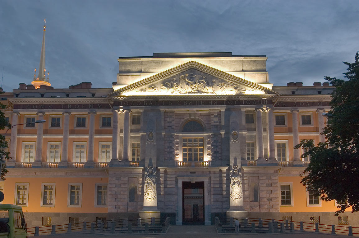 Engineers' (mikhailovsky) castle at early morning. saint petersburg