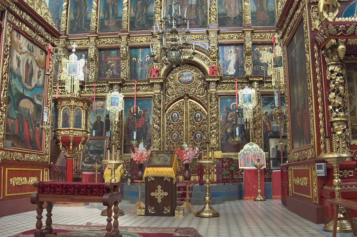 Interior of Trinity (Troitsky) Cathedral in Kremlin. Pskov, Russia