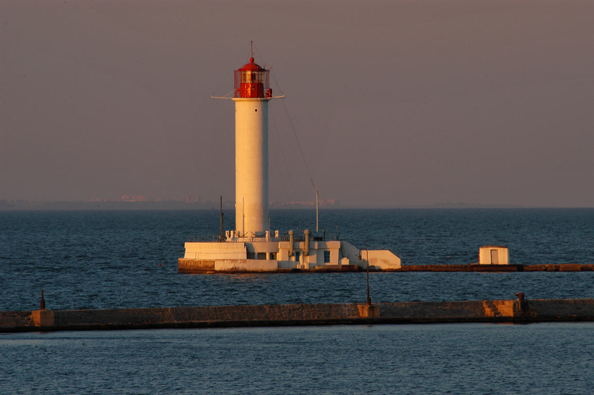 Vorontsov Lighthouse at evening. Odessa, Ukraine