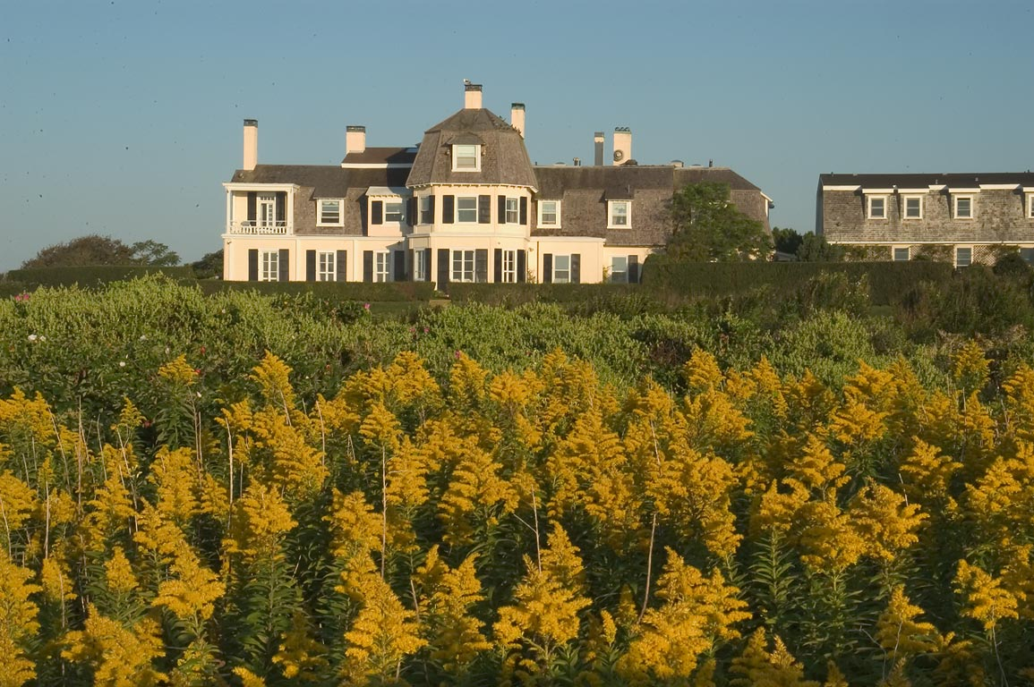 Lands End Mansion, view from Cliff Walk. Newport, Rhode Island
