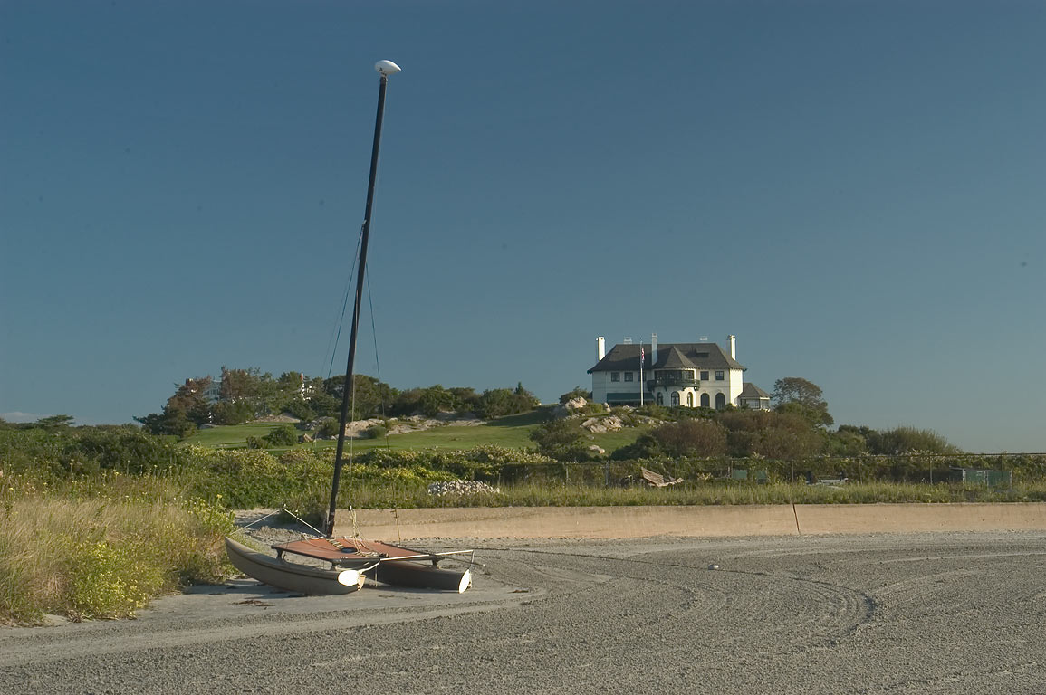 High Tide Mansion, view from Bailey Beach. Newport, Rhode Island