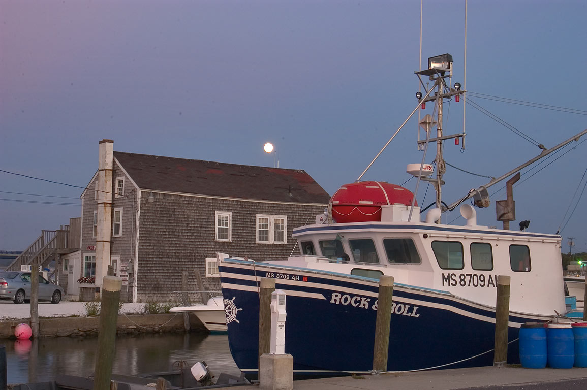 Lees Wharf in Westport Point at evening. Massachusetts