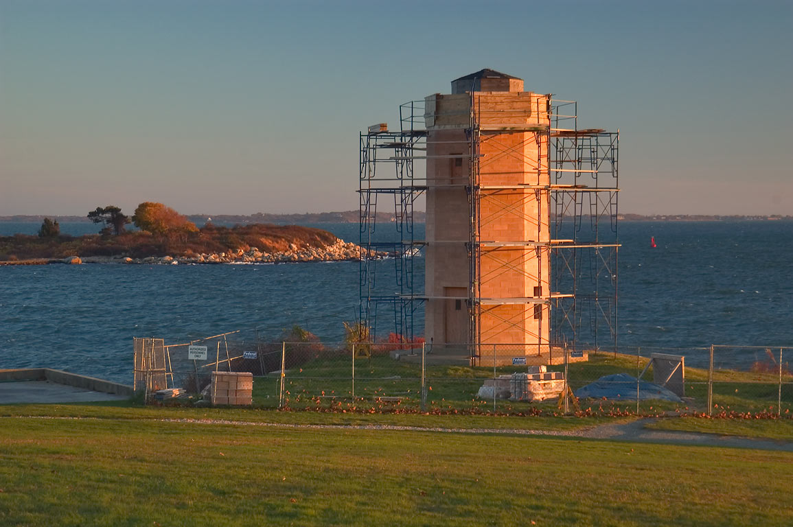Restoration of Avery Point Lighthouse. Groton, Connecticut