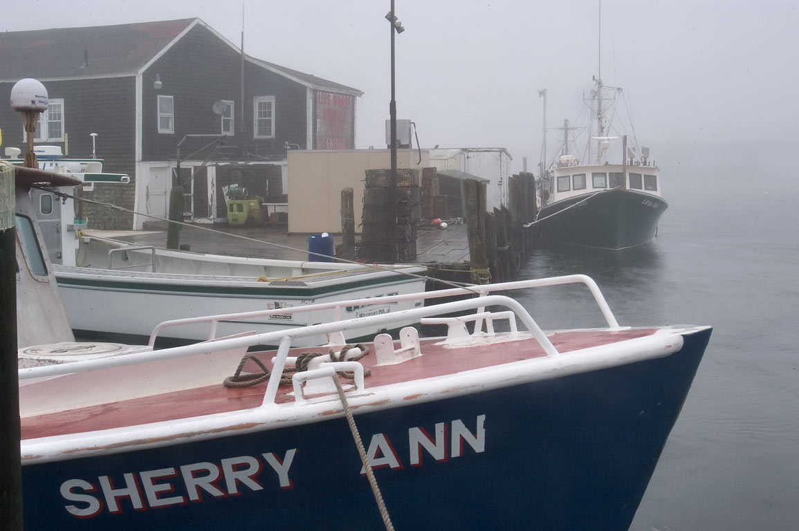 "Fishing boats ""Sherry Ann"" and ""Little Gull"" in...Point. Westport, Massachusetts"