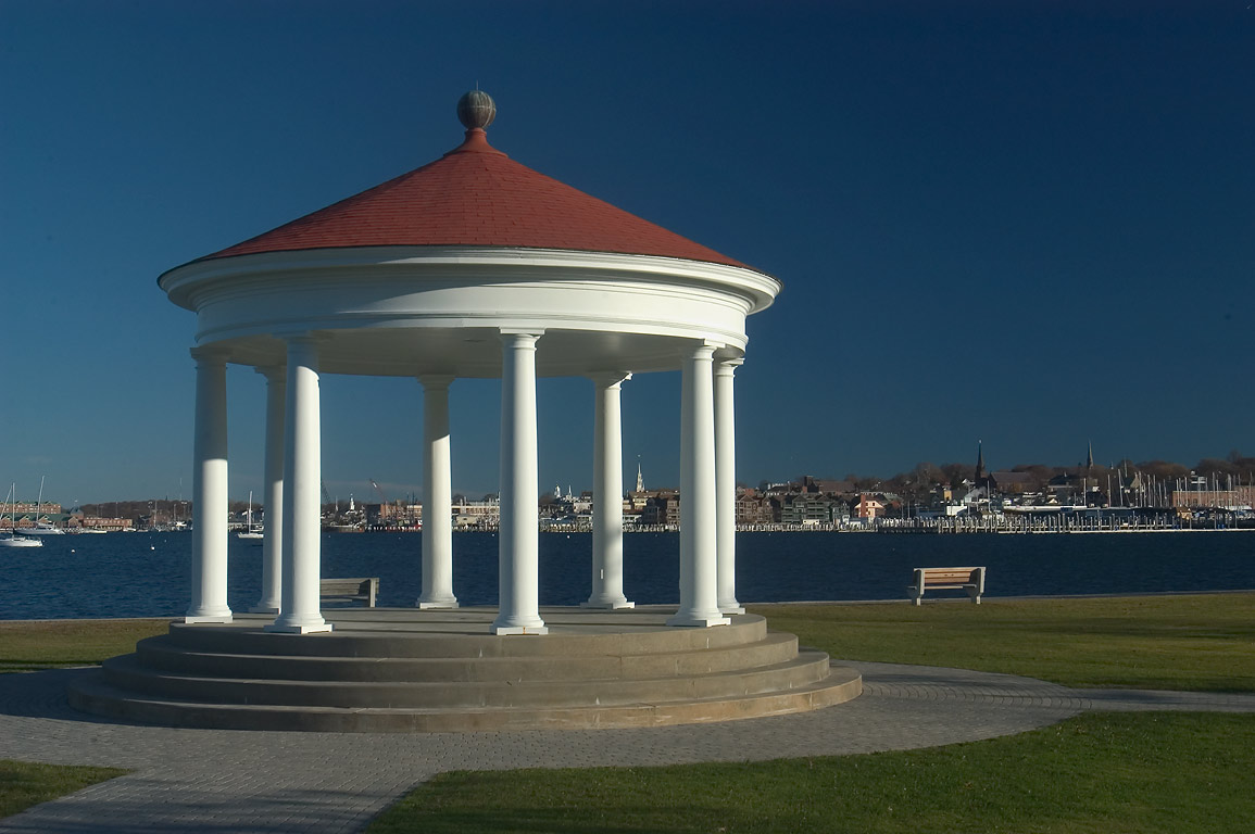 A rotunda at Kings Park on Wellington Ave.. Newport, Rhode Island