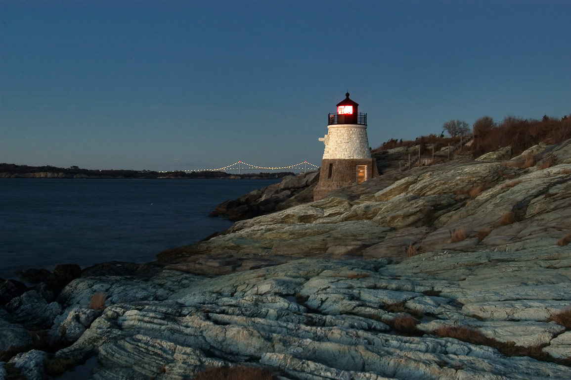 Castle Hill Lighthouse. Newport, Rhode Island