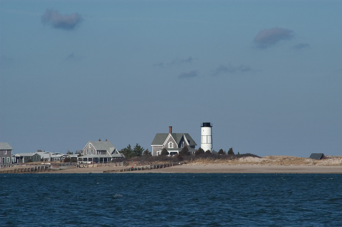 Beach Point Light on Sandy Neck, view from north...in Cape Cod. Barnstable, Massachusetts