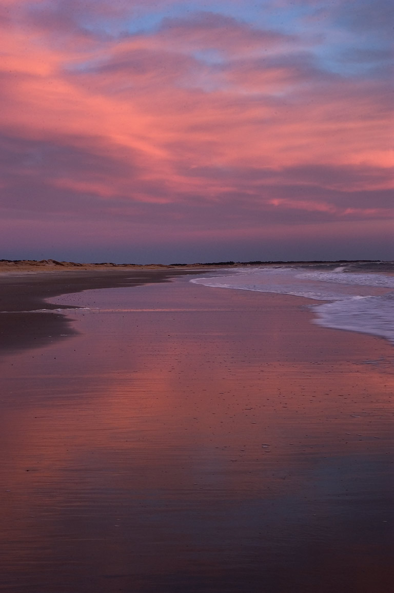Horseneck Beach at dusk. Westport, Massachusetts