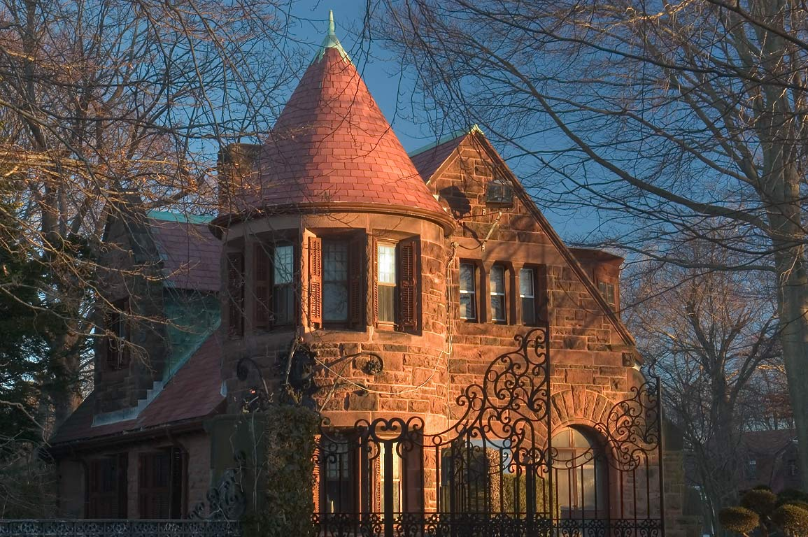 Gatehouse Mansion of Salve Regina University. Newport, Rhode Island