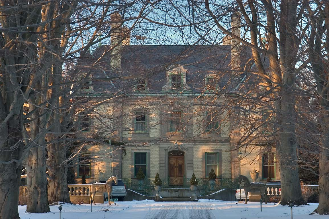 The Orchard Mansion from Narragansett Ave.. Newport, Rhode Island