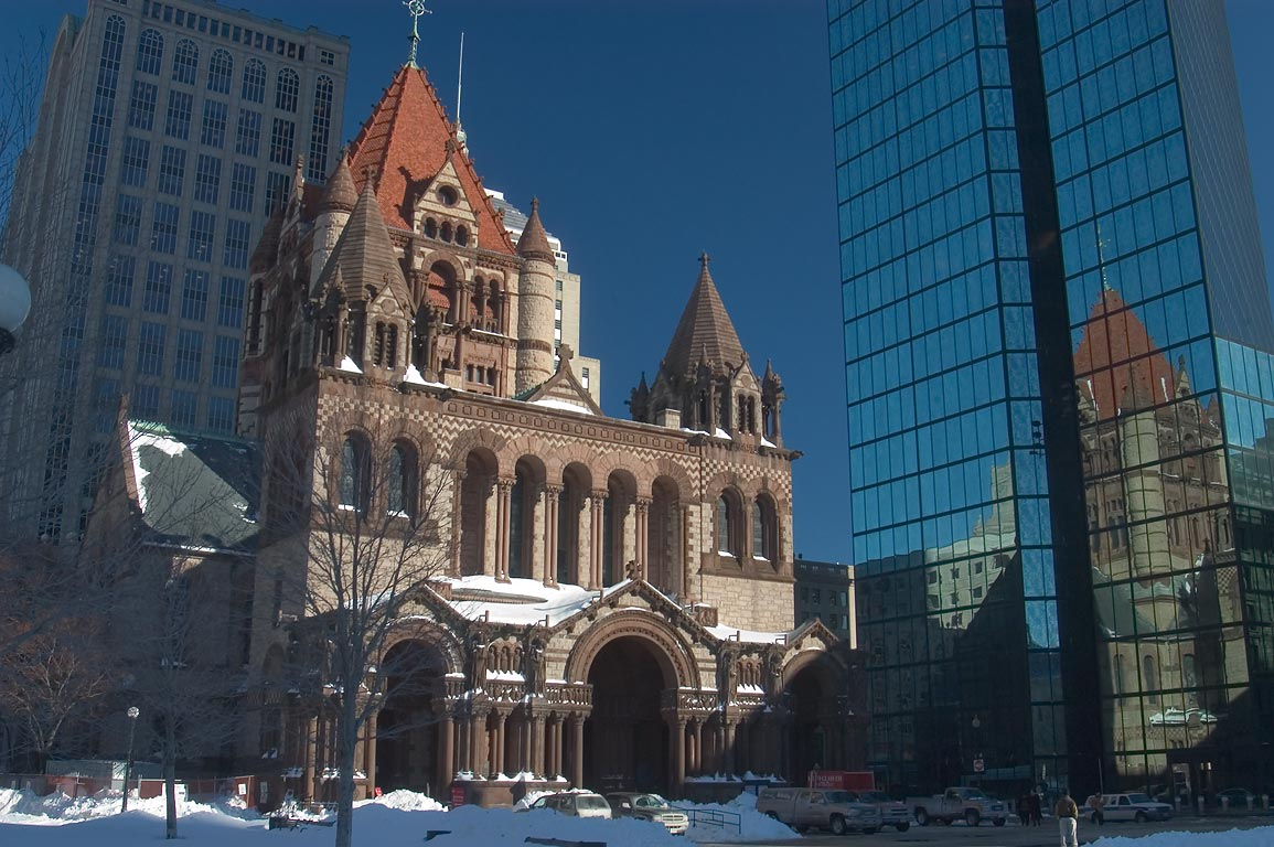 Coupley Square and Trinity Church. Boston, Massachusetts
