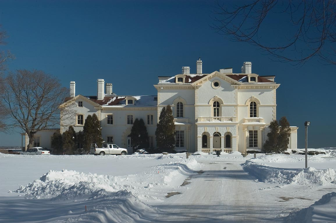 Mrs. Astor's Beechwood Mansion on Bellevue Ave., after snowfall. Newport, Rhode Island