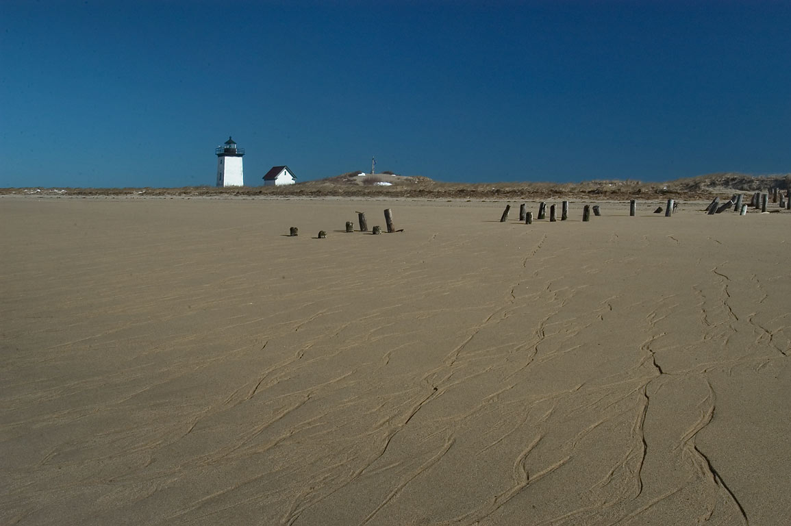 Long Point at low tide in Cape Cod. Provincetown, Massachusetts