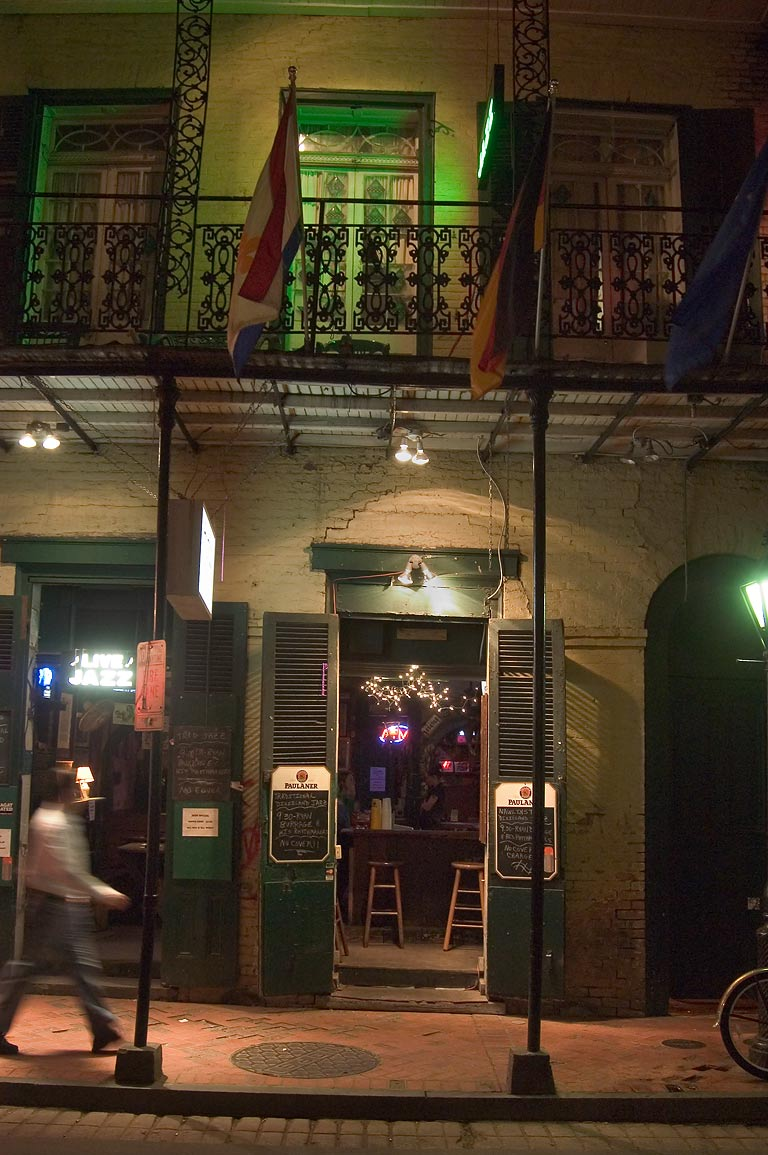 Bourbon Street at evening. New Orleans, Louisiana