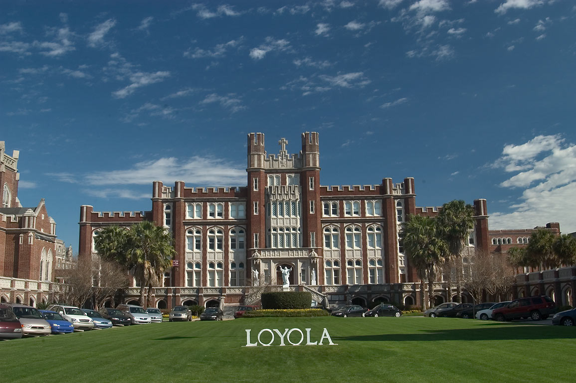 Loyola University (Marquette Hall), from St.Charles Ave.. New Orleans, Louisiana