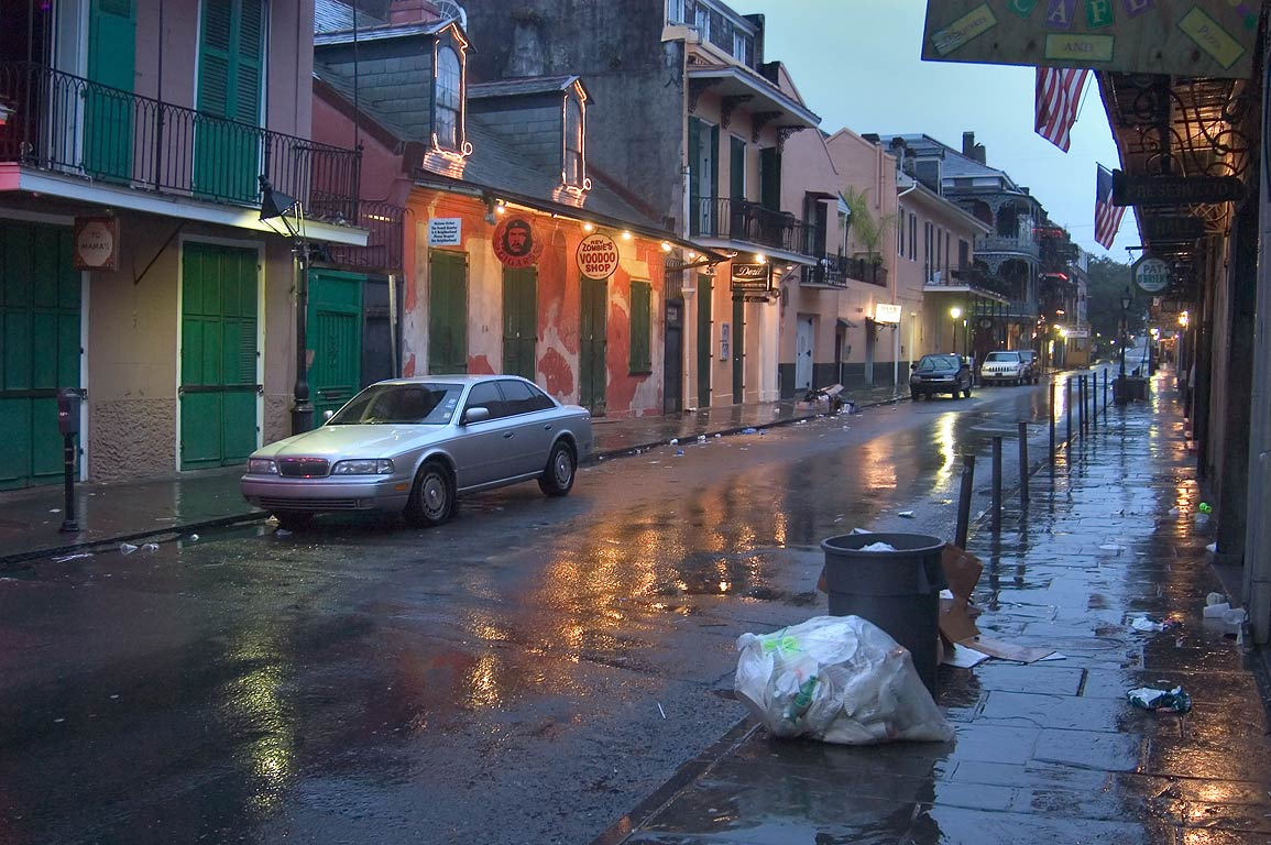 French Quarter at rainy morning. New Orleans, Louisiana