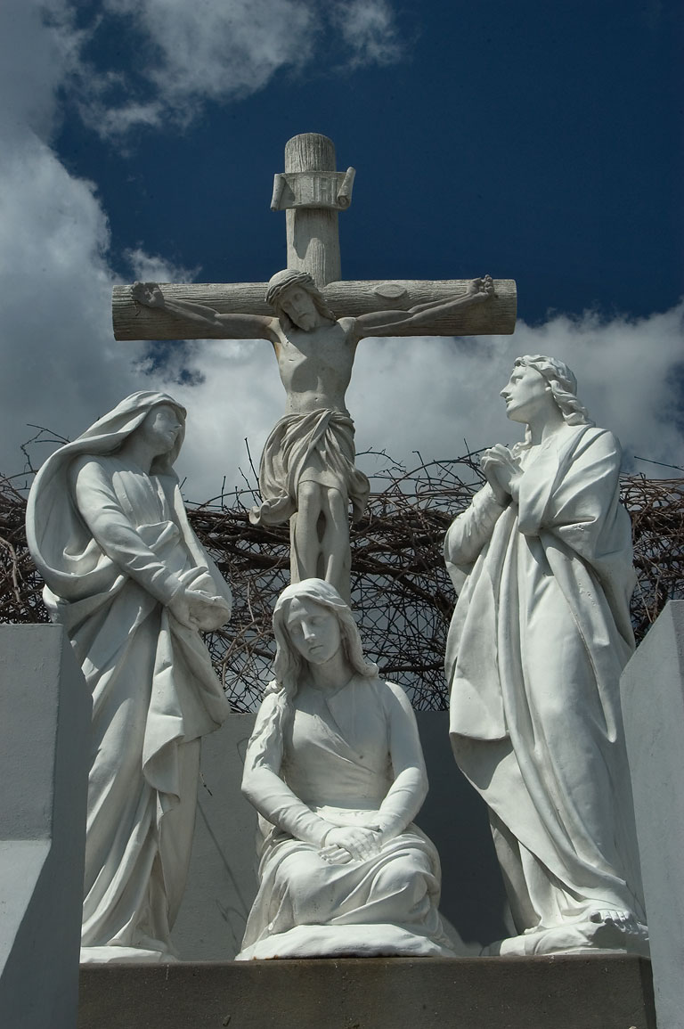 A monument of crucifiction in St.Joseph Cemetery near Loyola St.. New Orleans, Louisiana