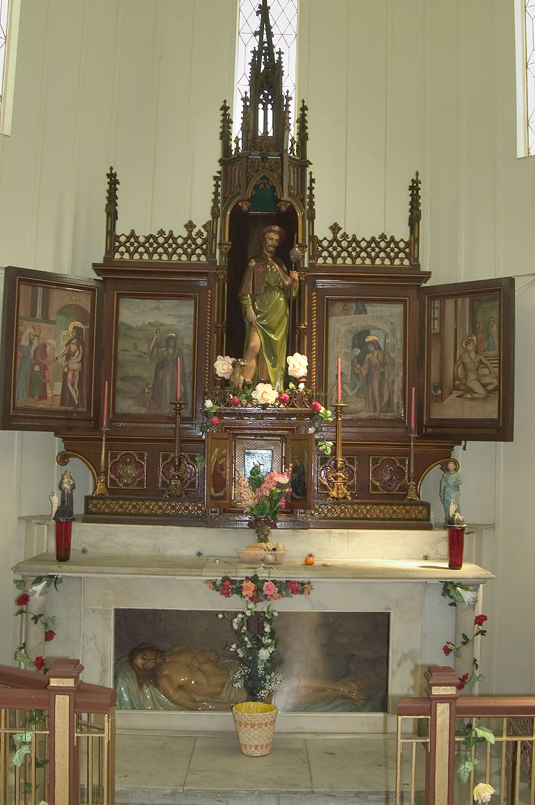 A shrine in Chapel of St.Roch Cemetery. New Orleans, Louisiana