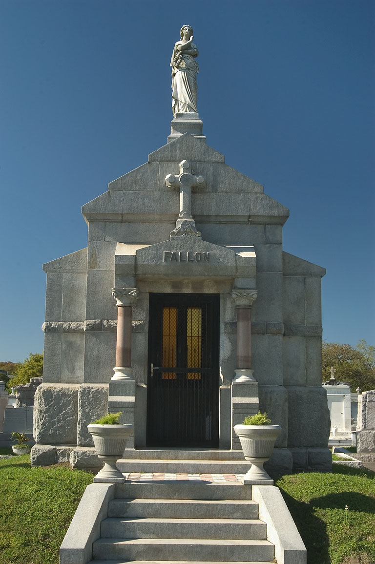 A tomb of Fallon in Metairie Cemetery. New Orleans, Louisiana