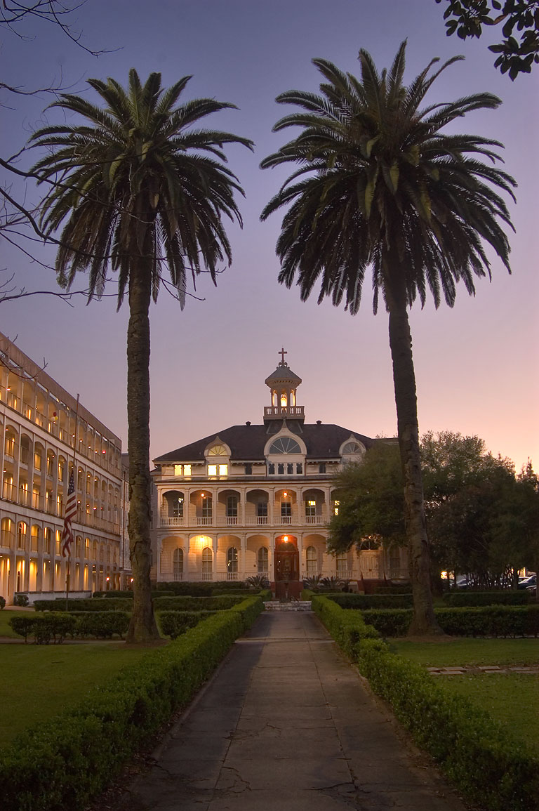 St.Mary's Dominican College, now Broadway Campus...at evening. New Orleans, Louisiana