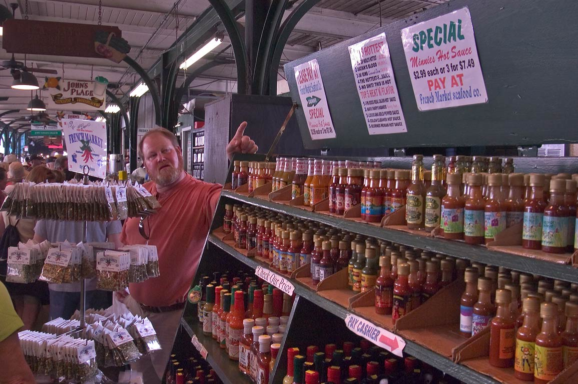 Spices in French Market. New Orleans, Louisiana