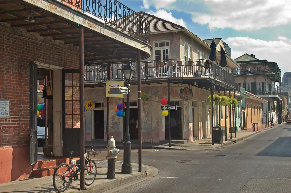 Dauphine St. in French Quarter. New Orleans, Louisiana