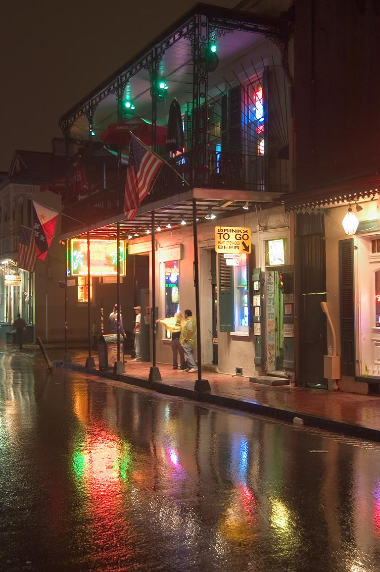 Bourbon Street near Orleans St.. New Orleans, Louisiana
