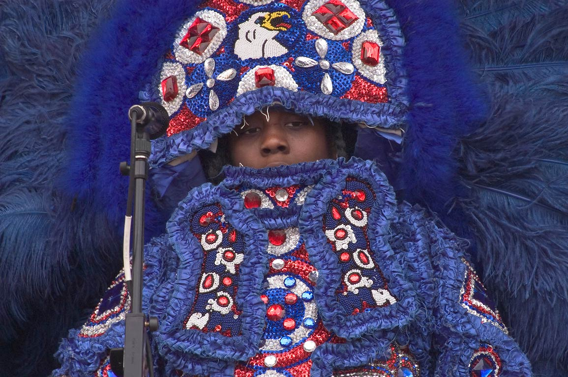 Mardi Gras Indians during Jazzfest. New Orleans, Louisiana