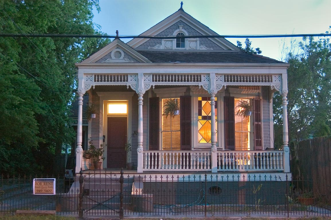 A typical house near Carondelet St.. New Orleans, Louisiana