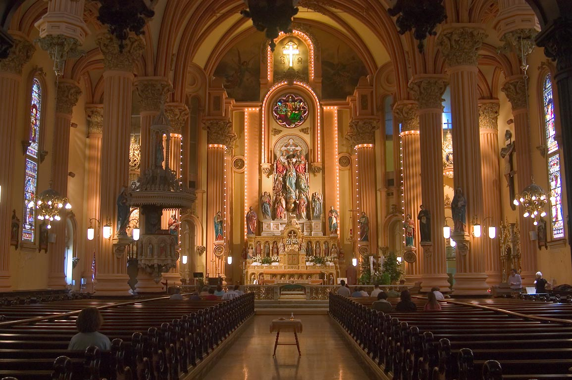 Interior of St.Mary's Assumption Church. New Orleans, Louisiana