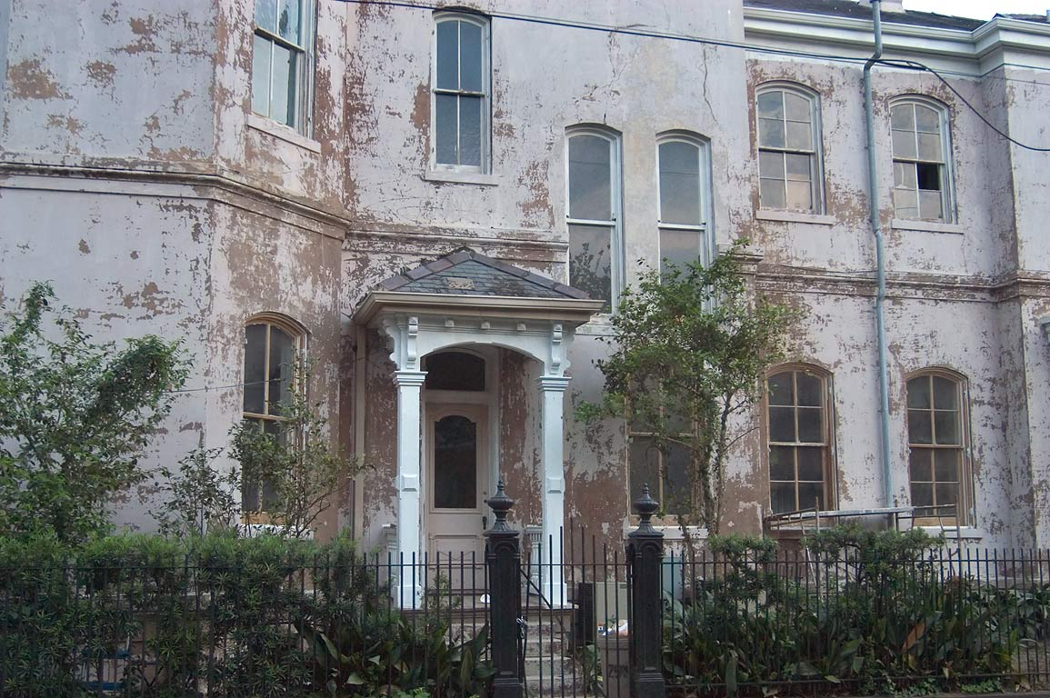 A house on Camp St. at corner of Second St. in Garden District. New Orleans, Louisiana