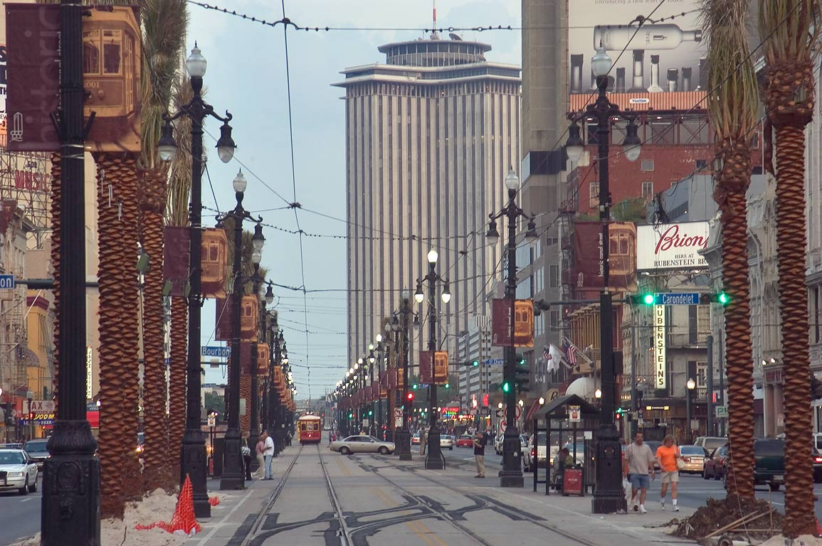 Canal St. after a renovation. New Orleans, Louisiana