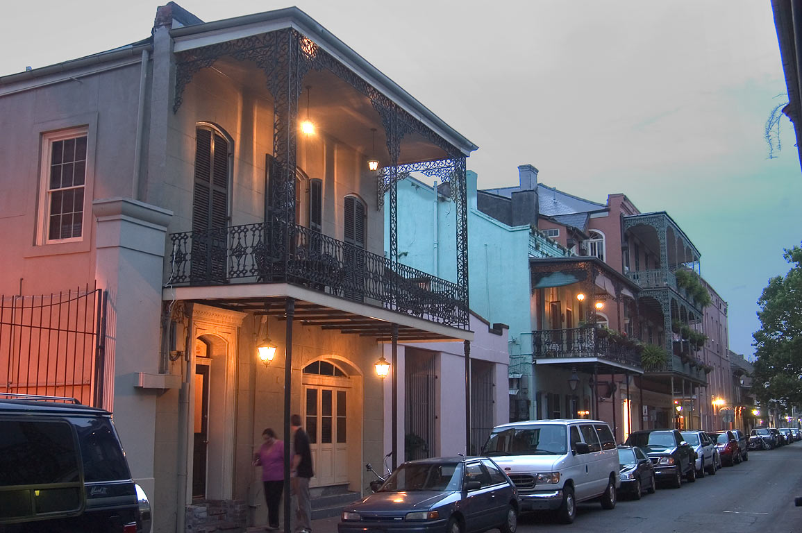 Chartres Street in French Quarter. New Orleans, Louisiana