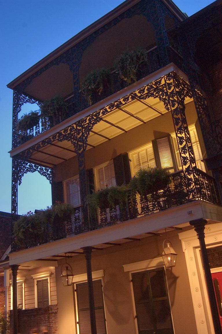 Area of Decatur St. in French Quarter. New Orleans, Louisiana
